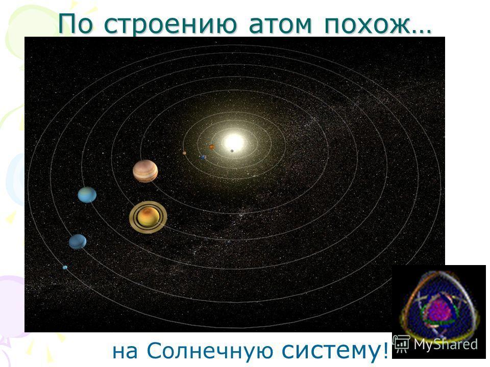 По строению атом похож… на Солнечную систему !