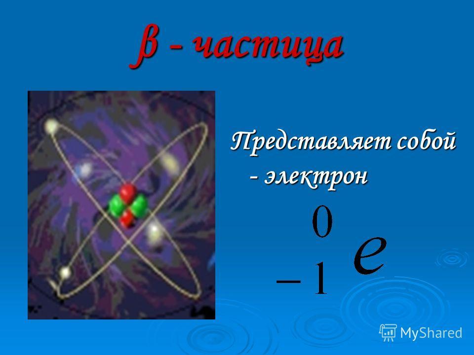 α - частица Полностью ионизированный атом химического элемента гелия