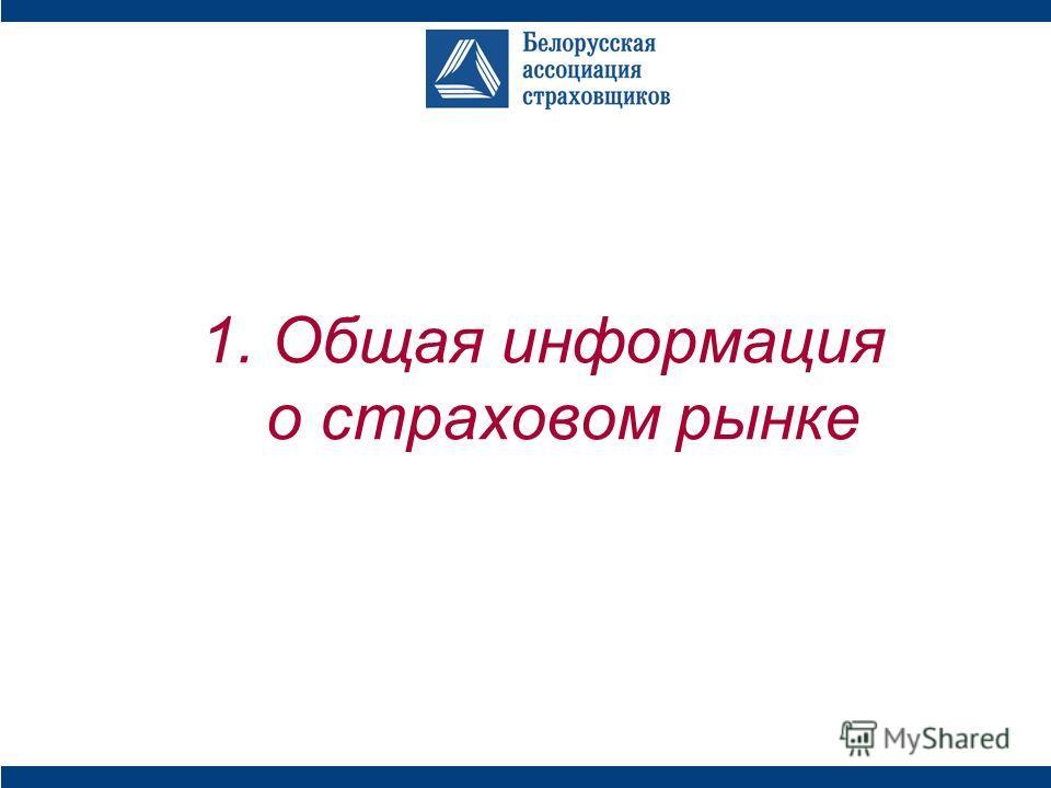 1. Общая информация о страховом рынке