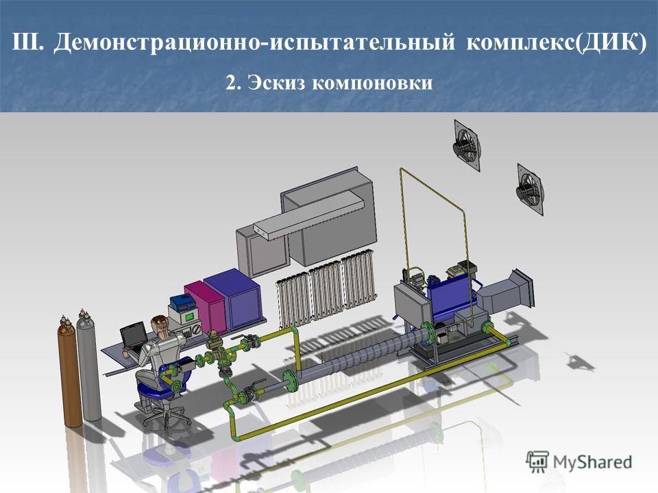 III. Демонстрационно-испытательный комплекс(ДИК) 2. Эскиз компоновки