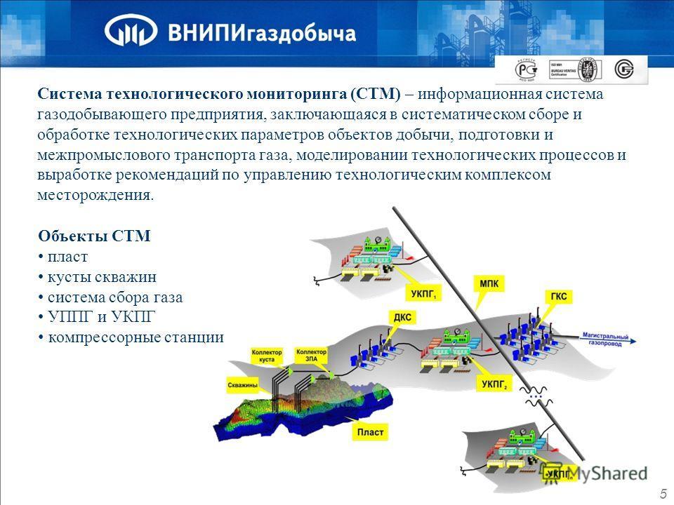 Система технологического мониторинга (СТМ) – информационная система газодобывающего предприятия, заключающаяся в систематическом сборе и обработке технологических параметров объектов добычи, подготовки и межпромыслового транспорта газа, моделировании