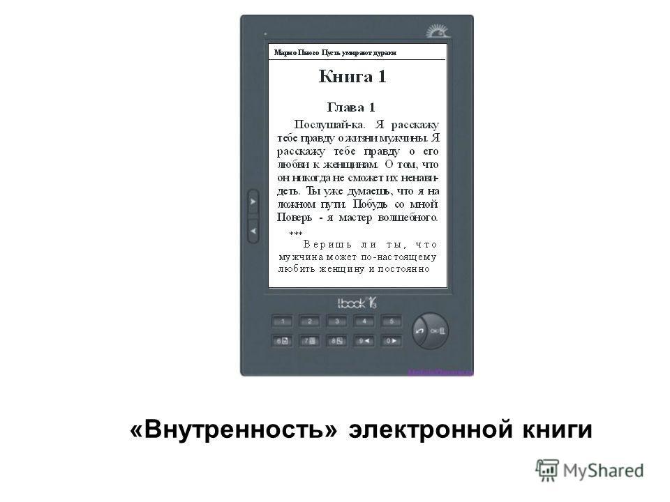 «Внутренность» электронной книги