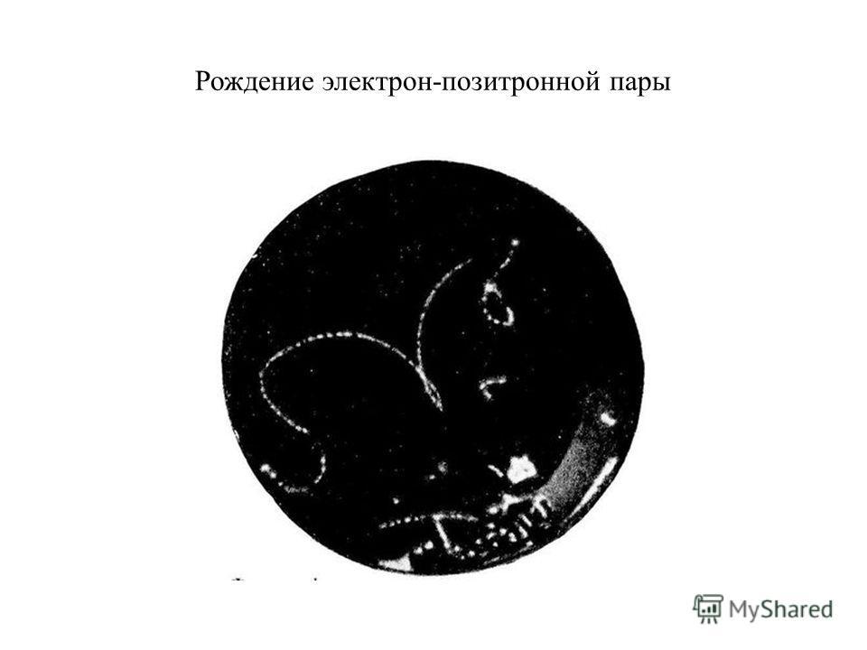 Рождение электрон-позитронной пары