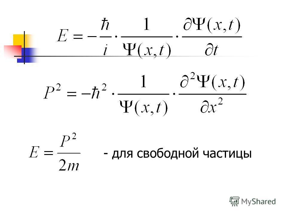 - для свободной частицы