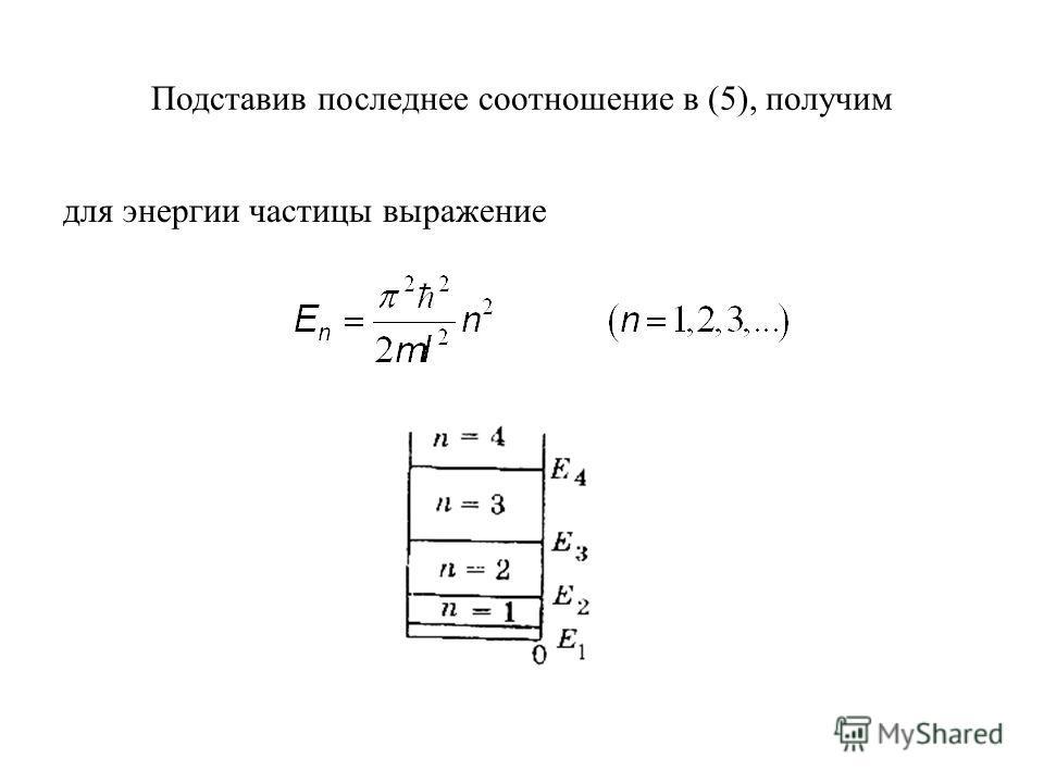 Подставив последнее соотношение в (5), получим для энергии частицы выражение