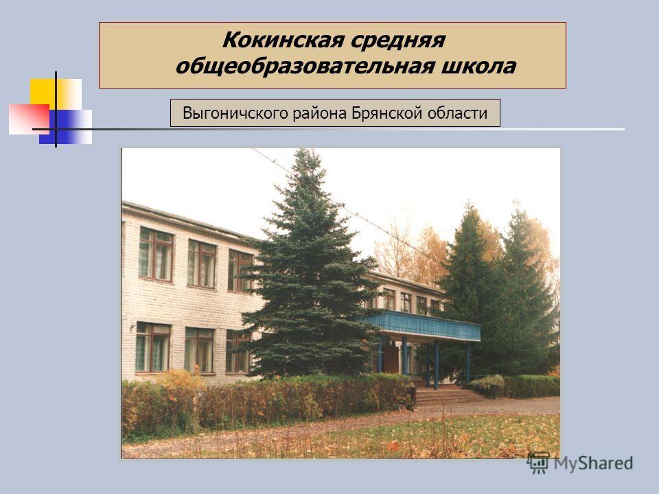 Выгоничского района Брянской области Кокинская средняя общеобразовательная школа