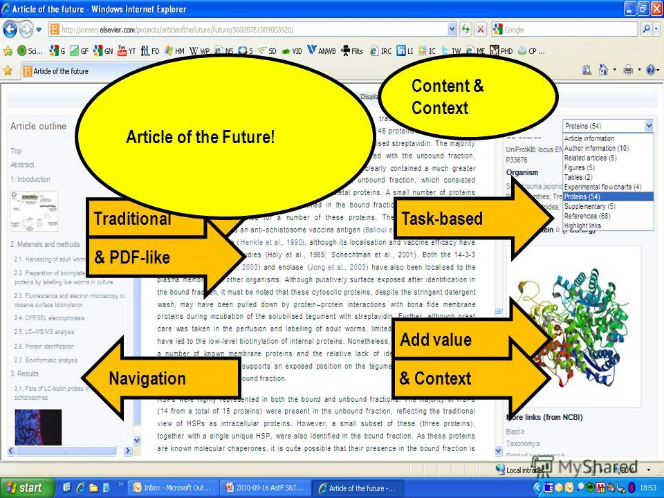 32 Task-based Navigation Traditional & PDF-like Add value & Context Article of the Future! Content & Context