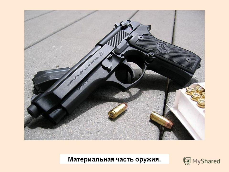 Материальная часть оружия.