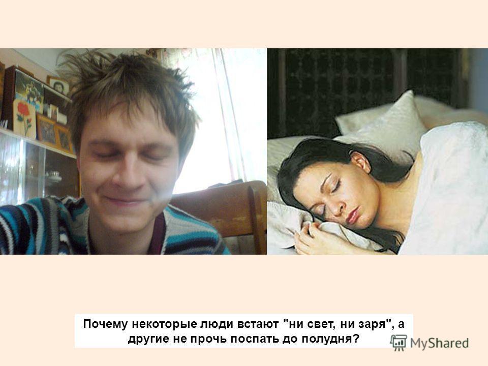 Почему некоторые люди встают ни свет, ни заря, а другие не прочь поспать до полудня?
