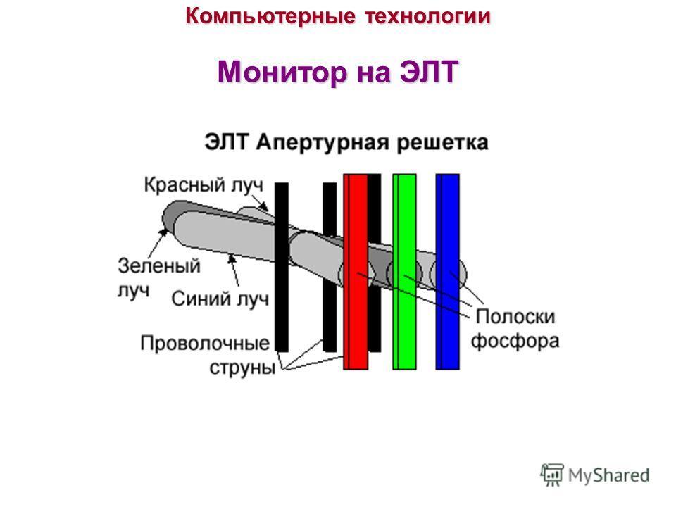 Компьютерные технологии Монитор на ЭЛТ