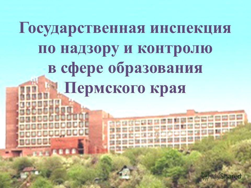 1 Государственная инспекция по надзору и контролю в сфере образования Пермского края