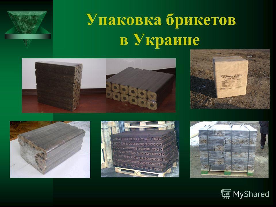 Упаковка брикетов в Украине