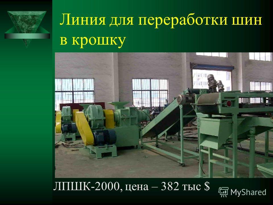 Линия для переработки шин в крошку ЛПШК-2000, цена – 382 тыс $