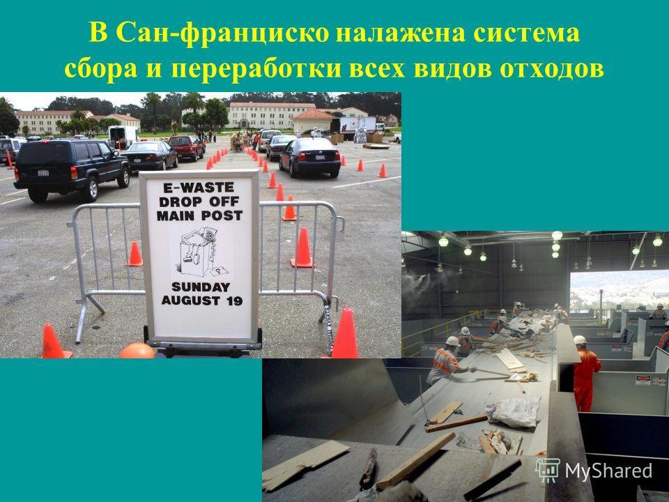 3 В Сан-франциско налажена система сбора и переработки всех видов отходов