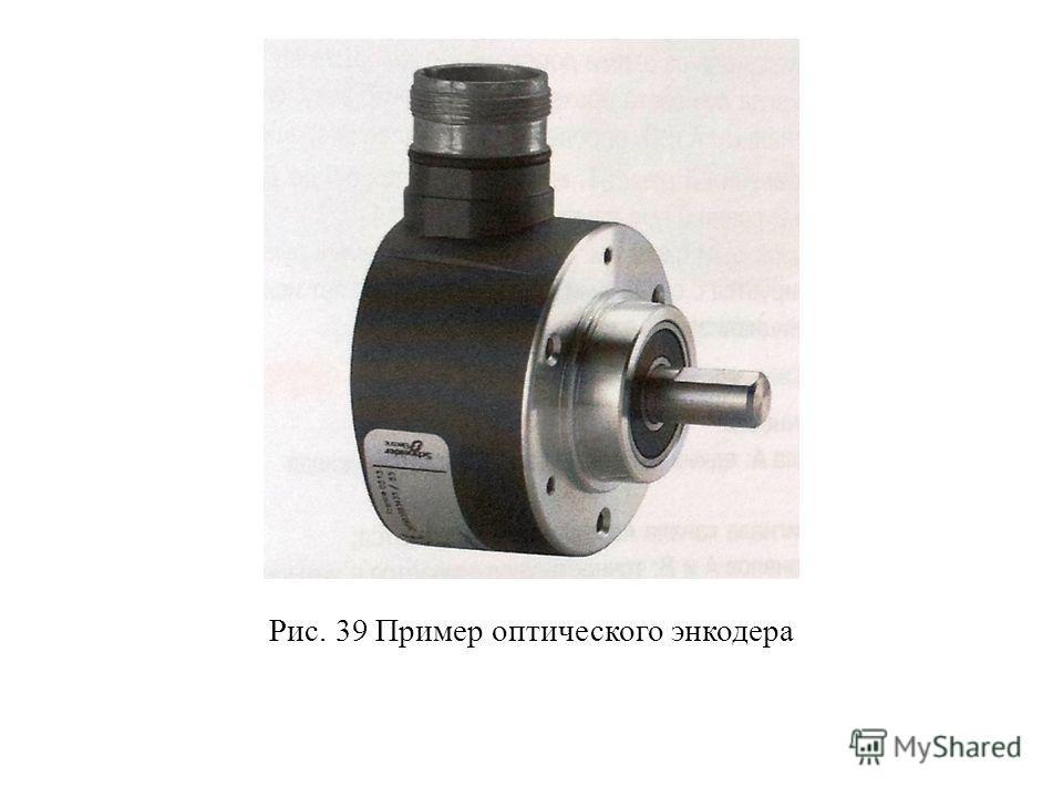 Рис. 39 Пример оптического энкодера
