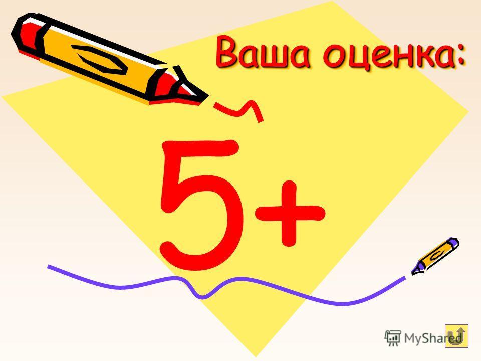 Ваша оценка: 5+