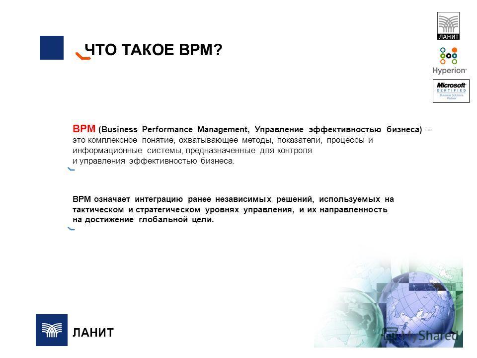 ЧТО ТАКОЕ BPM? BPM (Business Performance Management, Управление эффективностью бизнеса) – это комплексное понятие, охватывающее методы, показатели, процессы и информационные системы, предназначенные для контроля и управления эффективностью бизнеса. B