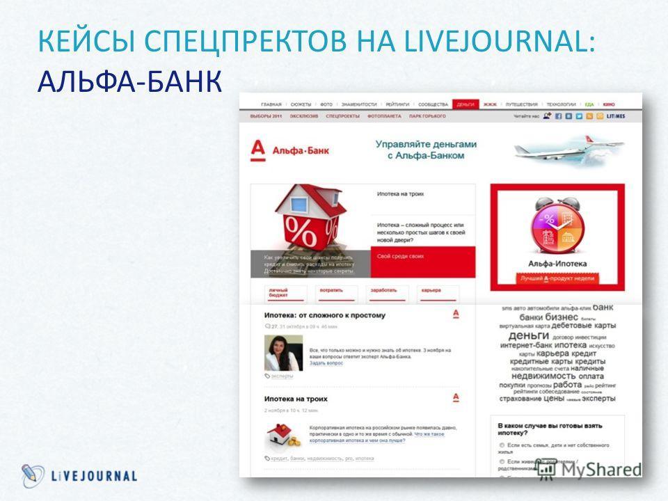 КЕЙСЫ СПЕЦПРЕКТОВ НА LIVEJOURNAL: АЛЬФА-БАНК