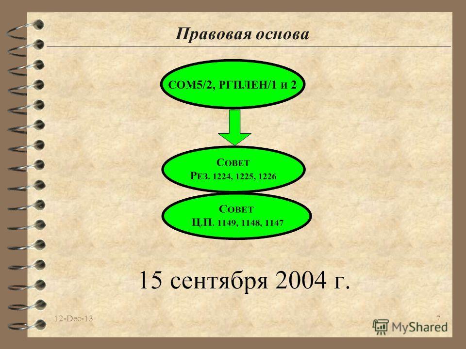 12-Dec-137 Правовая основа