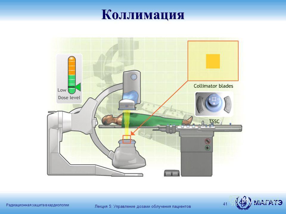 Радиационная защита в кардиологии МАГАТЭ 41Коллимация Лекция 5: Управление дозами облучения пациентов