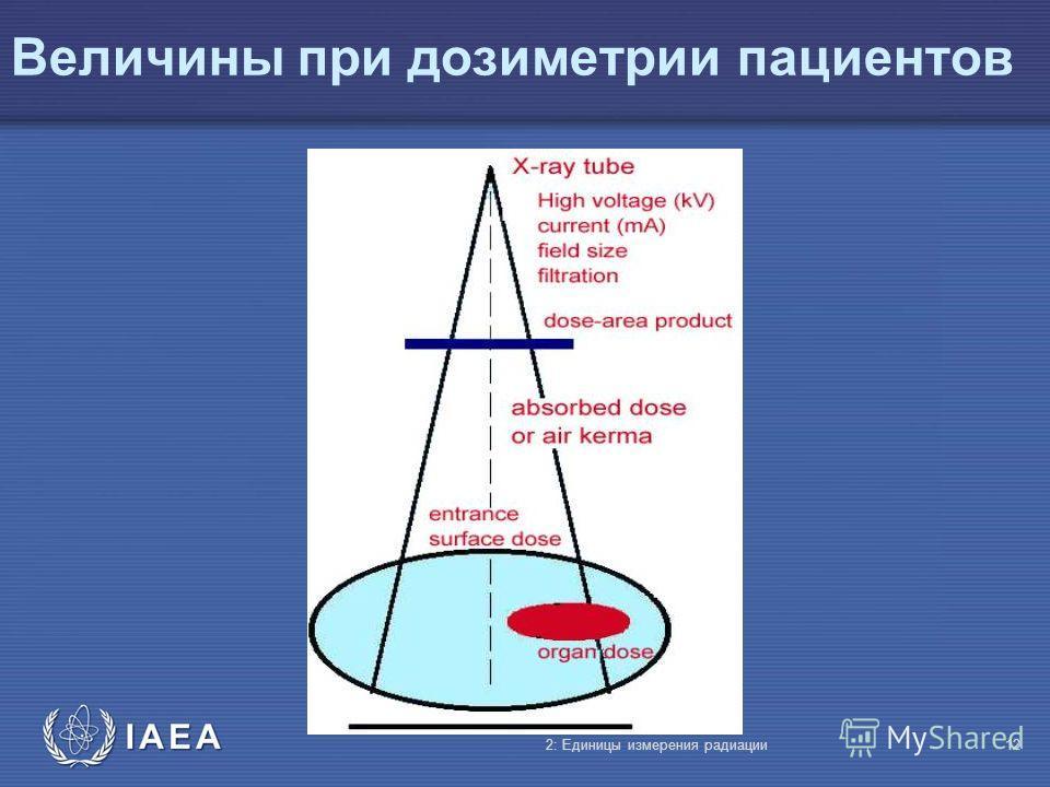 IAEA Величины при дозиметрии пациентов 2: Единицы измерения радиации12