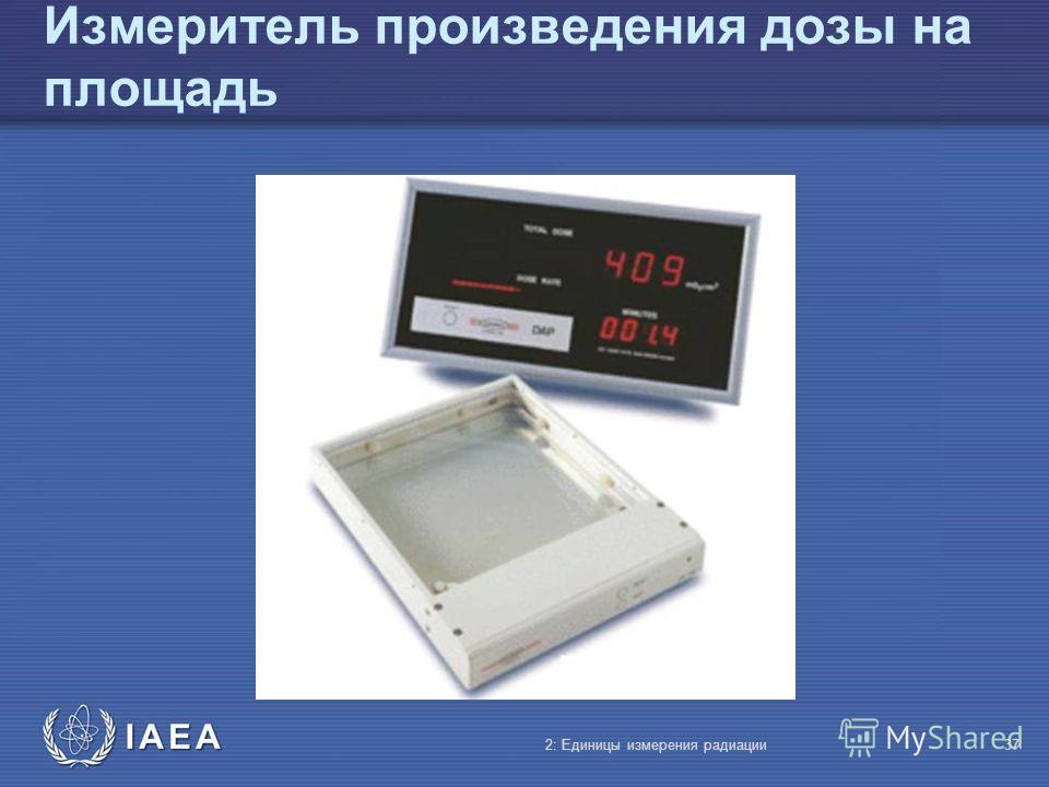 IAEA Измеритель произведения дозы на площадь 2: Единицы измерения радиации37