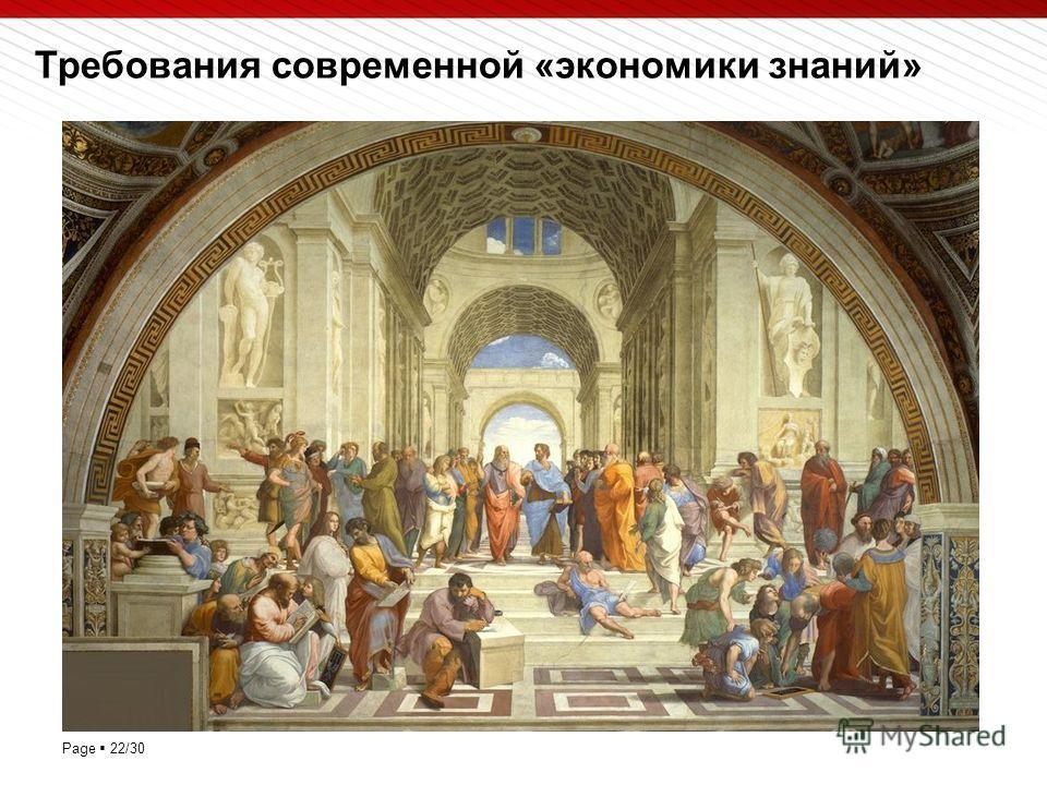 Page 22/30 Требования современной «экономики знаний»