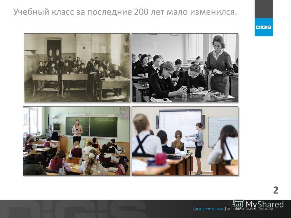 2 Учебный класс за последние 200 лет мало изменился.