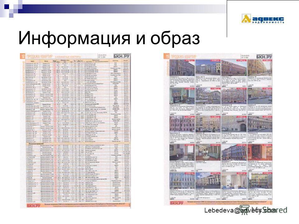 Информация и образ Lebedeva@advecs.com