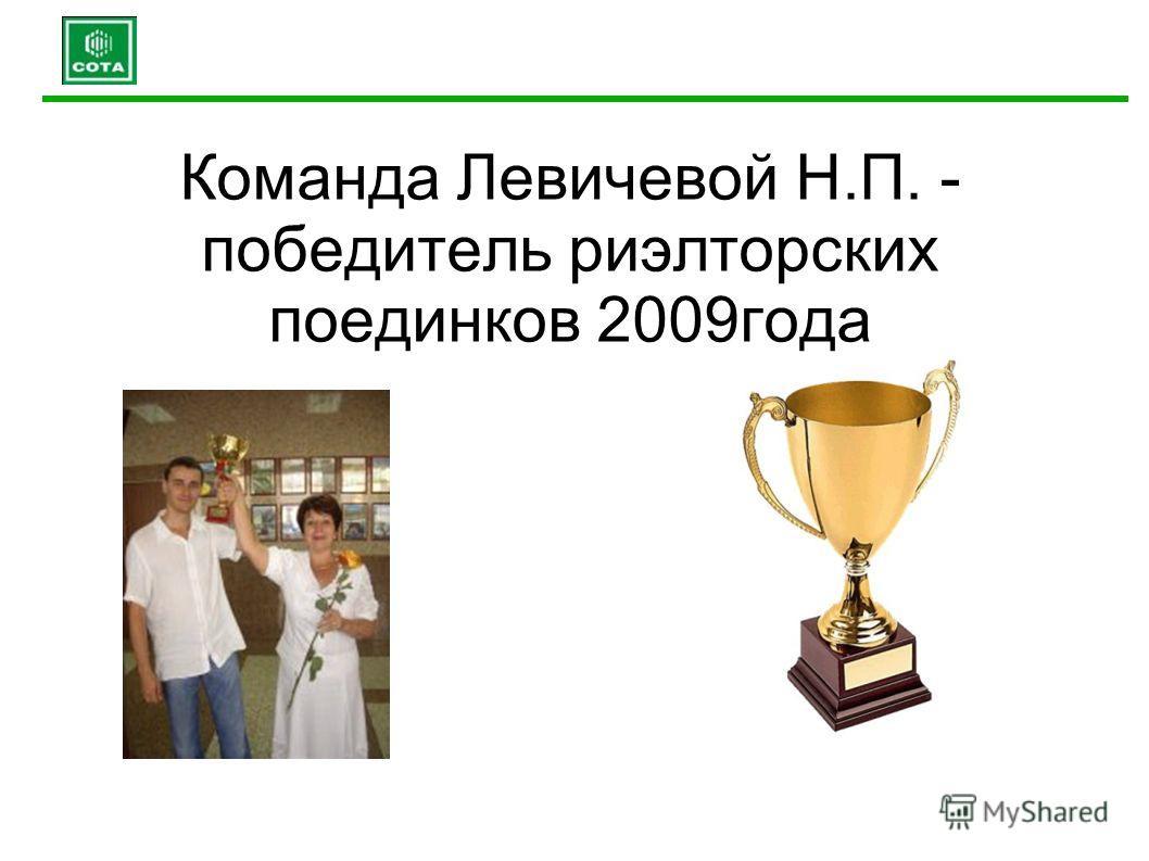 Команда Левичевой Н.П. - победитель риэлторских поединков 2009года