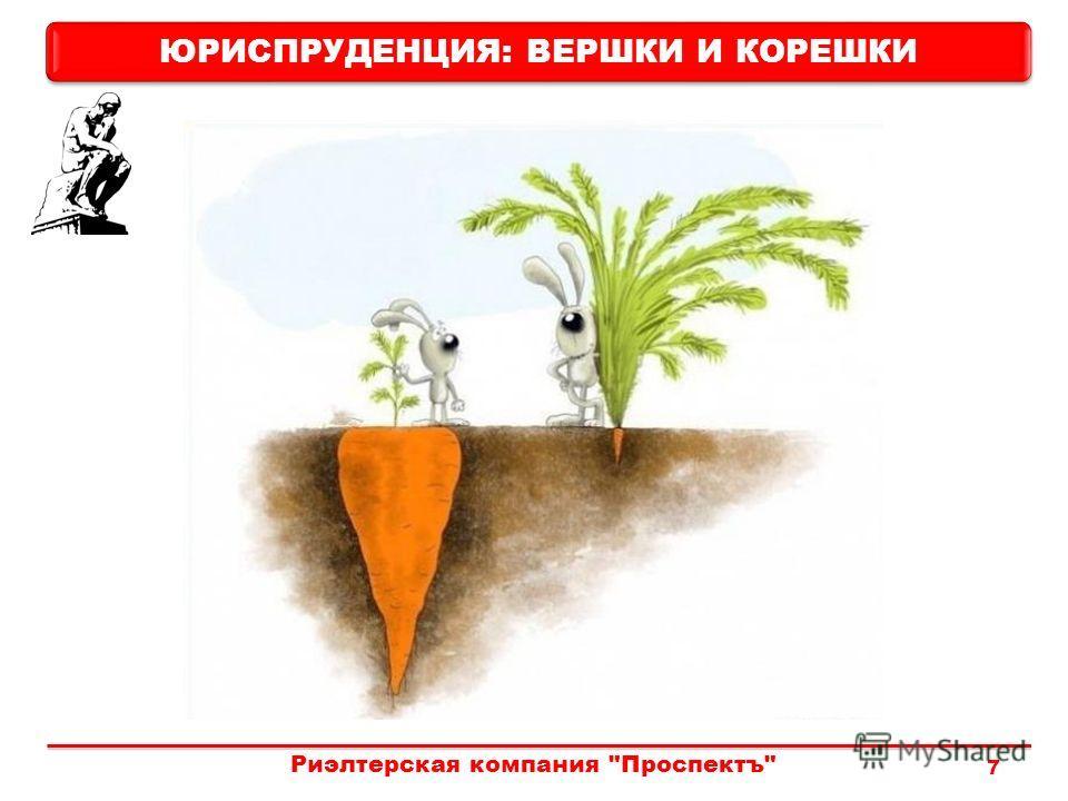 Риэлтерская компания Проспектъ 7 ЮРИСПРУДЕНЦИЯ: ВЕРШКИ И КОРЕШКИ