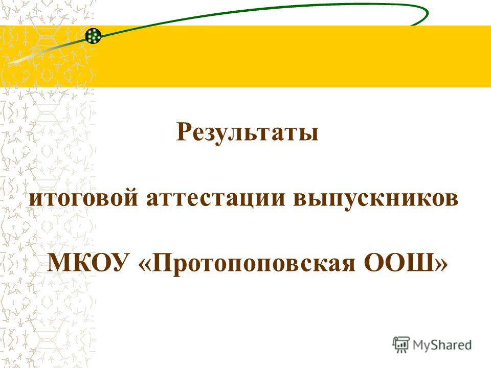 Результаты итоговой аттестации выпускников МКОУ «Протопоповская ООШ»