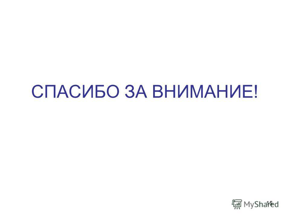 СПАСИБО ЗА ВНИМАНИЕ! 15