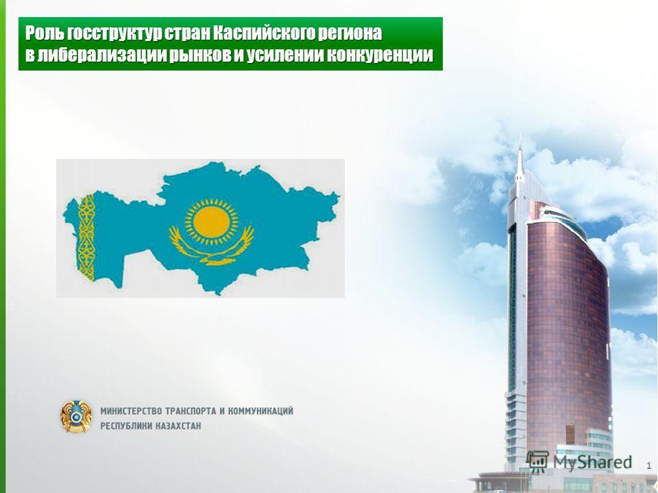 1 Роль госструктур стран Каспийского региона в либерализации рынков и усилении конкуренции