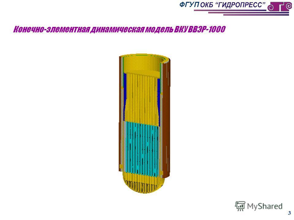 2 Основные элементы ВКУ реактора ВВЭР-1000 Корпус Разделитель потока Шахта Выгородка Активная зона Блок защитных труб Нижний узел крепления