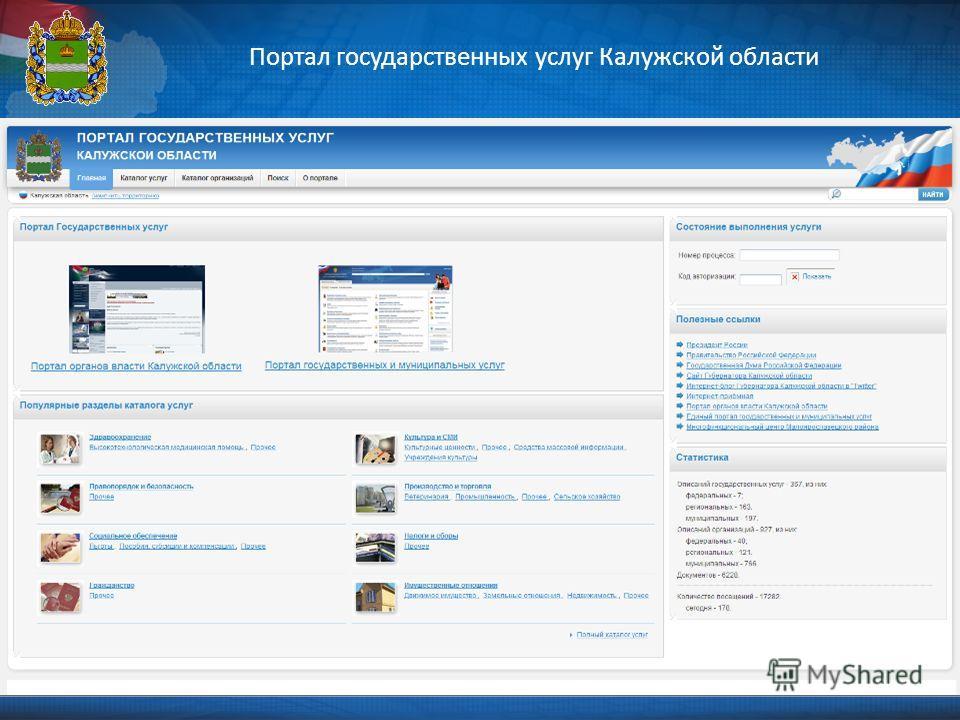 Портал государственных услуг Калужской области