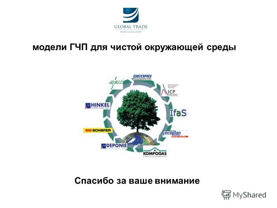 модели ГЧП для чистой окружающей среды Спасибо за ваше внимание