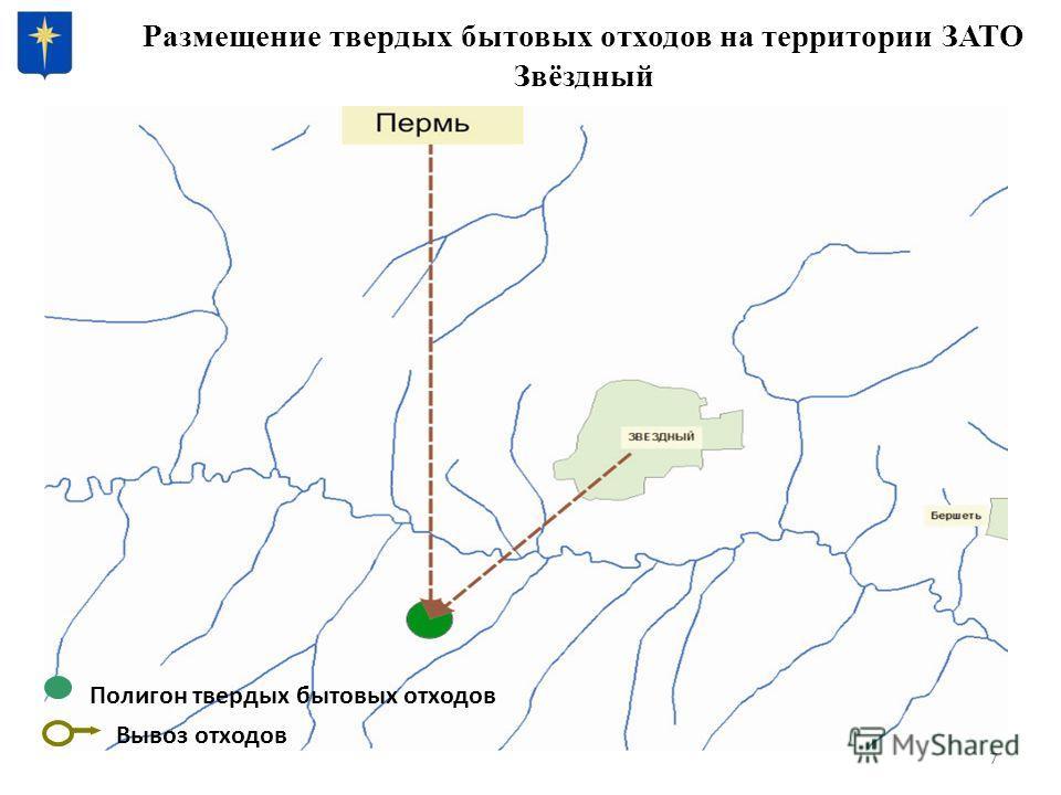 Размещение твердых бытовых отходов на территории ЗАТО Звёздный 7 Полигон твердых бытовых отходов Вывоз отходов