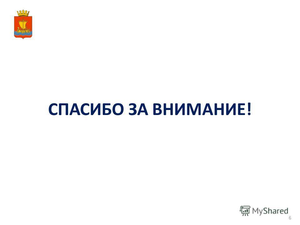 СПАСИБО ЗА ВНИМАНИЕ! 6