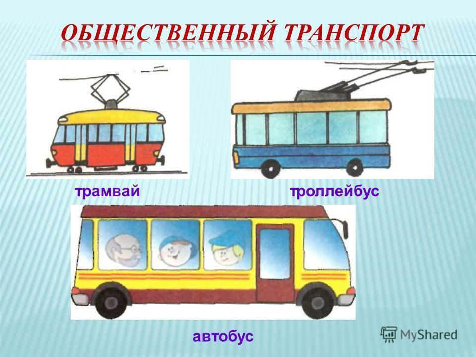 трамвайтроллейбус автобус