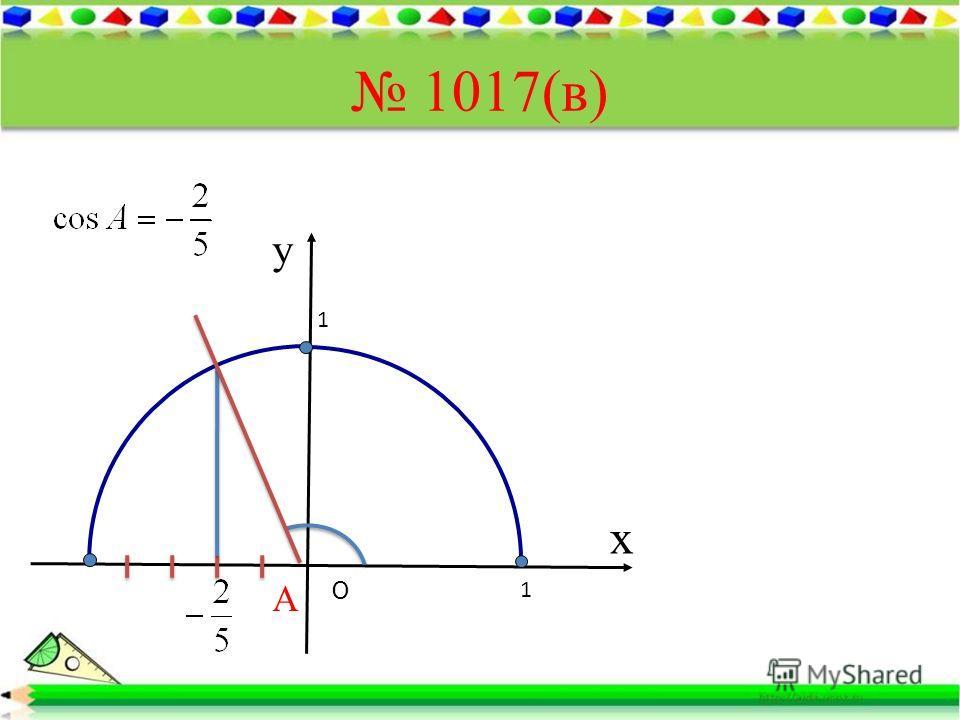 1017(в) х у O А 1 1