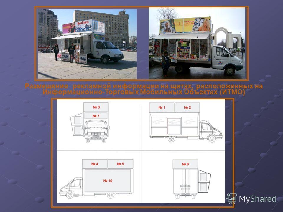 Размещение рекламной информации на щитах, расположенных на Информационно-Торговых Мобильных Объектах (ИТМО)