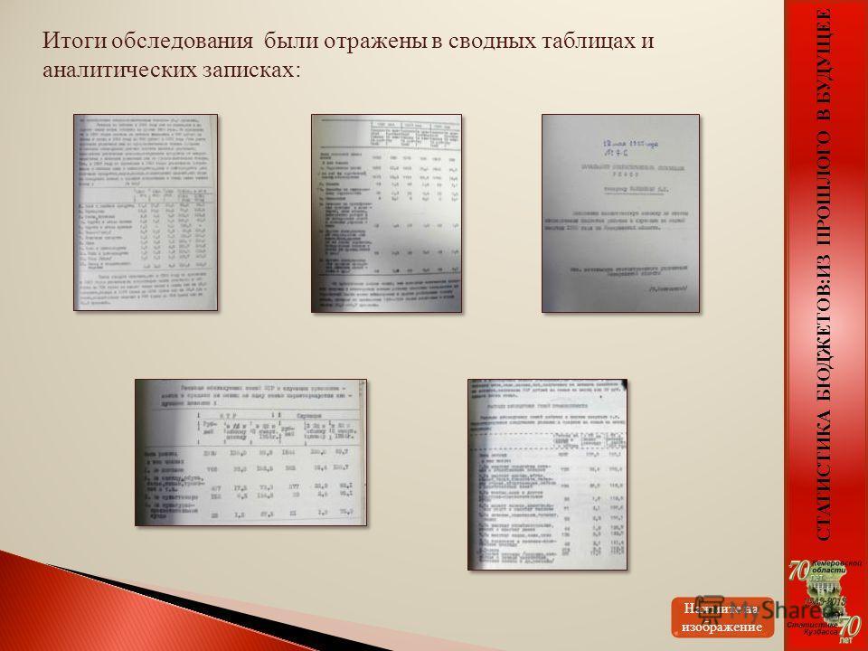 Итоги обследования были отражены в сводных таблицах и аналитических записках: Нажмите на изображение