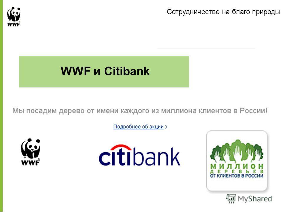 Presentation to Company Name WWF и Citibank Сотрудничество на благо природы