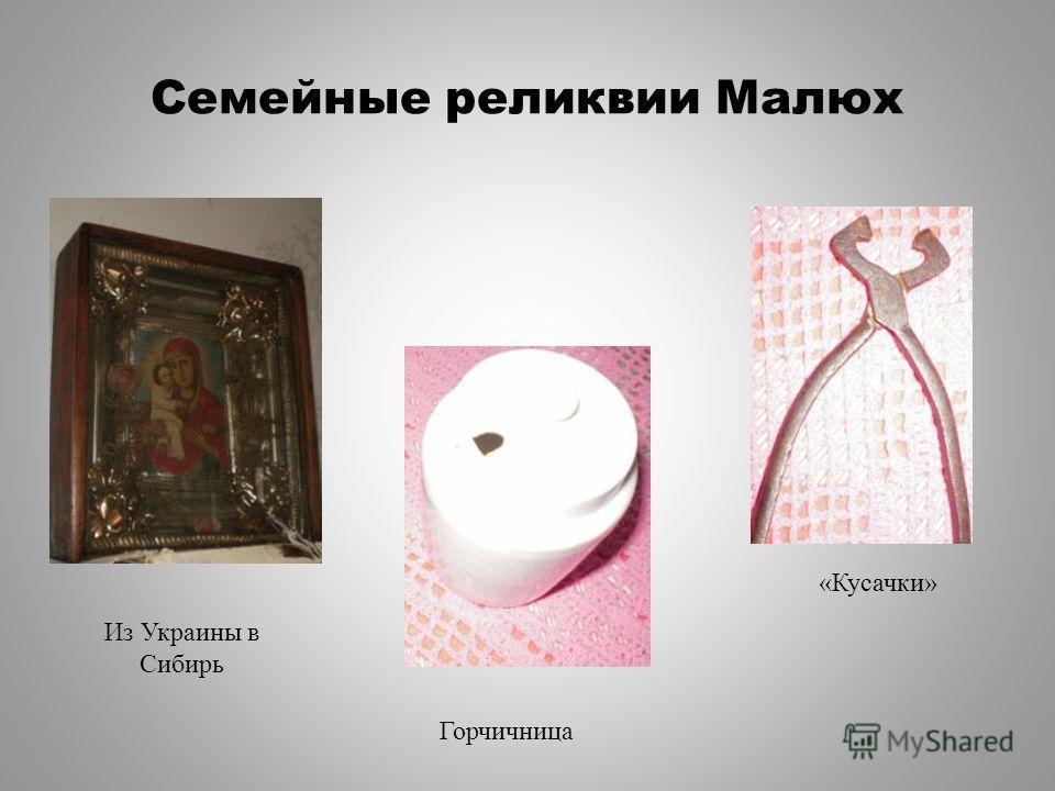Семейные реликвии Малюх Из Украины в Сибирь Горчичница «Кусачки»