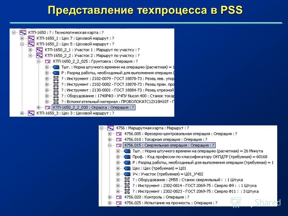 Представление техпроцесса в PSS