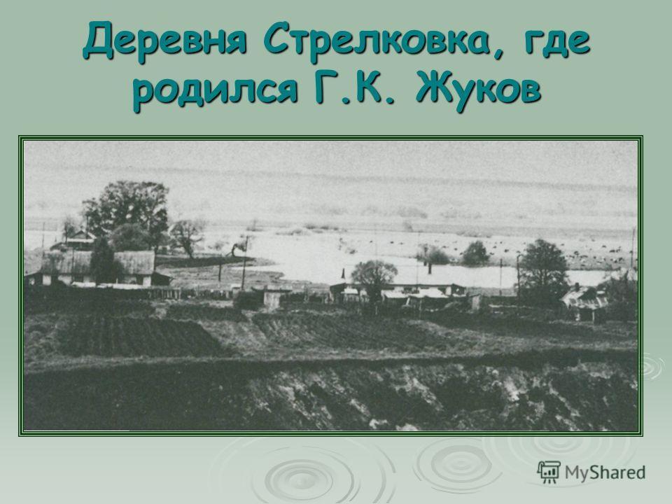 Деревня Стрелковка, где родился Г.К. Жуков