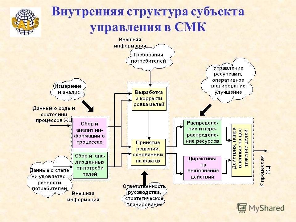 Внутренняя структура субъекта управления в СМК