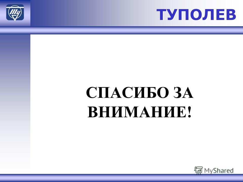 ТУПОЛЕВ СПАСИБО ЗА ВНИМАНИЕ!