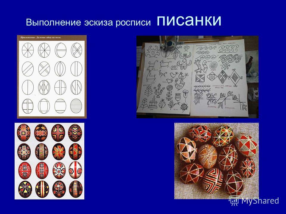 Выполнение эскиза росписи писанки